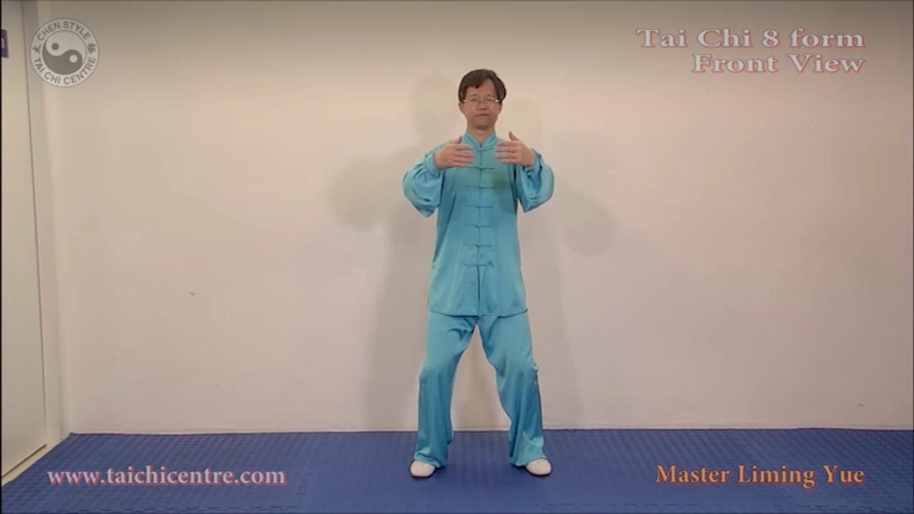 Front View 8 Form; Back View 8 Form; 8 Form Instruction part 1; 8 Form Instruction part 2; Warm up and Qigong Follow me;Silk Reeling Exercises; Qigong Foundation Exercise 1; Qigong Foundation Exercise 2;